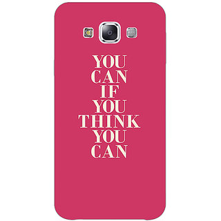 1 Crazy Designer Quotes Back Cover Case For Samsung Galaxy E5 C441193