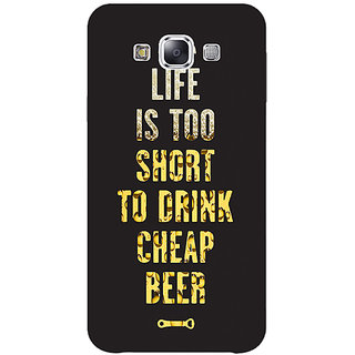 1 Crazy Designer Beer Quote Back Cover Case For Samsung Galaxy E5 C441217