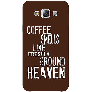 1 Crazy Designer Coffee Quote Back Cover Case For Samsung Galaxy E5 C441221