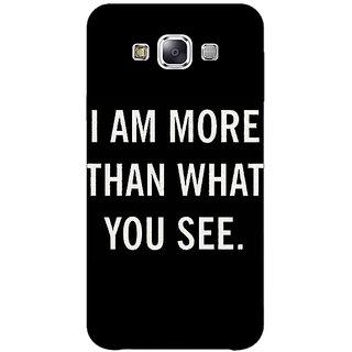 1 Crazy Designer Quote Back Cover Case For Samsung Galaxy E5 C441230