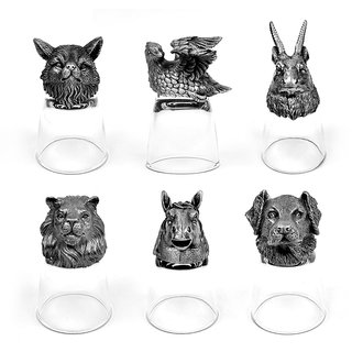 Animal Head Shot Glasses,50ml,Set of 6