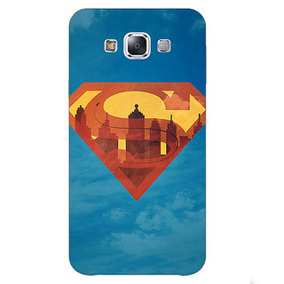 1 Crazy Designer Superheroes Superman Back Cover Case For Samsung Galaxy E5 C440388
