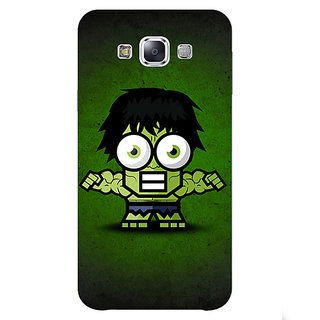 1 Crazy Designer Big Eyed Superheroes Hulk Back Cover Case For Samsung Galaxy E5 C440394