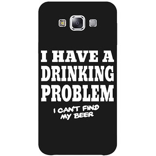 1 Crazy Designer Beer Quote Back Cover Case For Samsung Galaxy E5 C441255