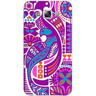 1 Crazy Designer Paisley Beautiful Peacock Back Cover Case For Samsung Galaxy E5 C441580