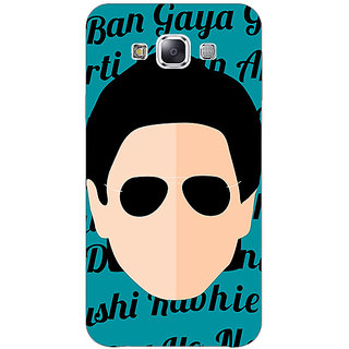 1 Crazy Designer Bollywood Superstar Shahrukh Khan Back Cover Case For Samsung Galaxy E5 C441121