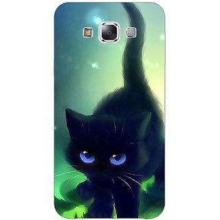 1 Crazy Designer Cute Black Kitten Back Cover Case For Samsung Galaxy E5 C441138