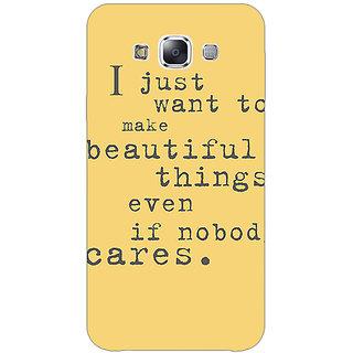1 Crazy Designer Quote Back Cover Case For Samsung Galaxy E5 C441335