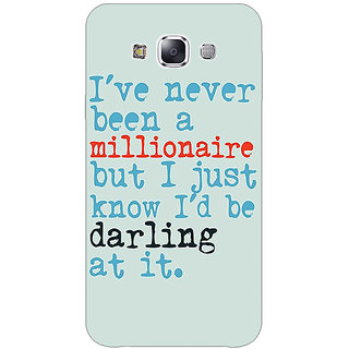 1 Crazy Designer Quote Back Cover Case For Samsung Galaxy E5 C441339