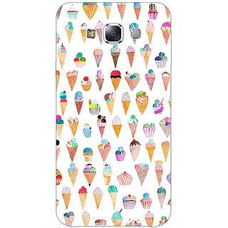 1 Crazy Designer Ice cream Doodle Back Cover Case For Samsung Galaxy E5 C441358