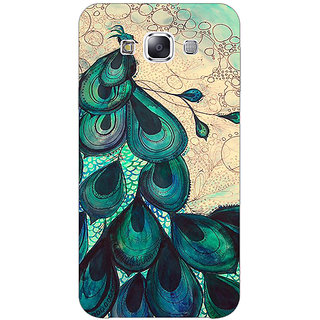 1 Crazy Designer Paisley Beautiful Peacock Back Cover Case For Samsung Galaxy E5 C441585