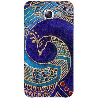 1 Crazy Designer Paisley Beautiful Peacock Back Cover Case For Samsung Galaxy E5 C441589