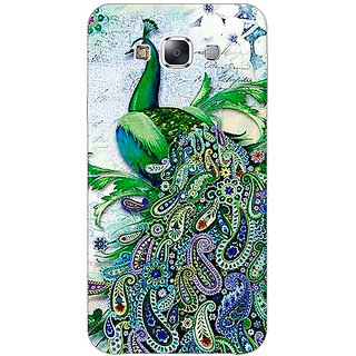 1 Crazy Designer Paisley Beautiful Peacock Back Cover Case For Samsung Galaxy E5 C441591