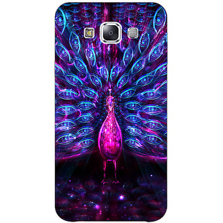 1 Crazy Designer Paisley Beautiful Peacock Back Cover Case For Samsung Galaxy E5 C441600