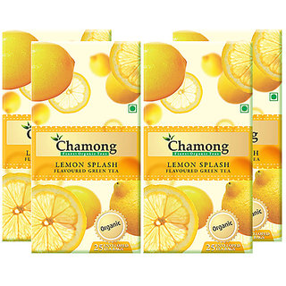 Chamong Organic Lemon Splash Envelope Tea Bag Combo(25 X 4 Box  100 Tea Bags)