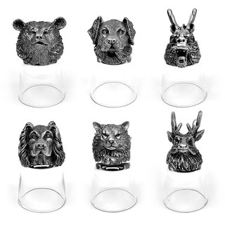 Animal Head Shot Glasses,50ml,Set of 6