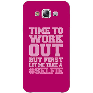 1 Crazy Designer Selfie Quote Back Cover Case For Samsung Galaxy E5 C441498