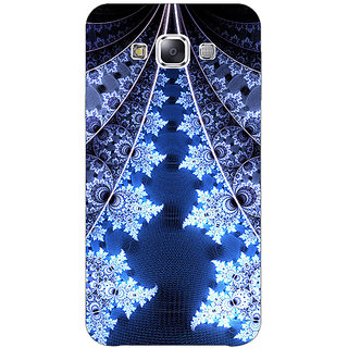 1 Crazy Designer Abstract Snow Flake Pattern Back Cover Case For Samsung Galaxy E5 C441503
