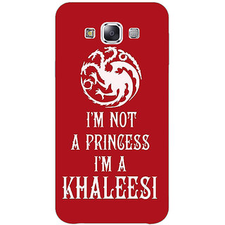 1 Crazy Designer Game Of Thrones GOT Princess Khaleesi Back Cover Case For Samsung Galaxy E5 C441536