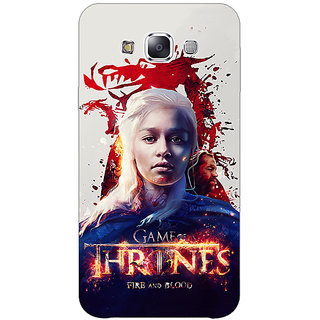1 Crazy Designer Game Of Thrones GOT Khaleesi Daenerys Targaryen Back Cover Case For Samsung Galaxy E5 C441539