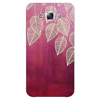 1 Crazy Designer Golden Leaves Pattern Back Cover Case For Samsung Galaxy A5 C450217