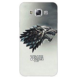 1 Crazy Designer Game Of Thrones GOT House Stark Back Cover Case For Samsung Galaxy E5 C441554