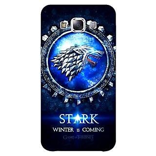 1 Crazy Designer Game Of Thrones GOT House Stark Back Cover Case For Samsung Galaxy E5 C441555