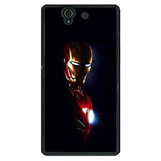 1 Crazy Designer Superheroes Ironman Back Cover Case For Sony Xperia Z C460026