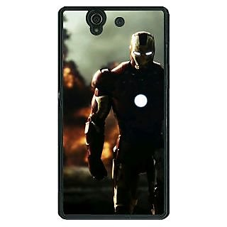 1 Crazy Designer Superheroes Ironman Back Cover Case For Sony Xperia Z C460033