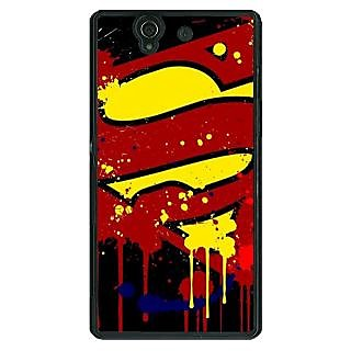 1 Crazy Designer Superheroes Superman Back Cover Case For Sony Xperia Z C460034