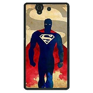 1 Crazy Designer Superheroes Superman Back Cover Case For Sony Xperia Z C460040