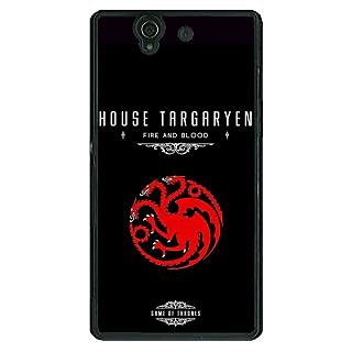 1 Crazy Designer Game Of Thrones GOT House Targaryen  Back Cover Case For Sony Xperia Z C460144
