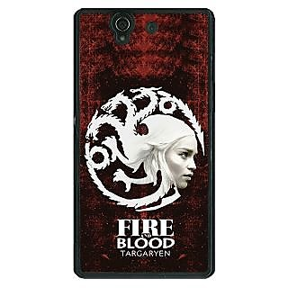 1 Crazy Designer Game Of Thrones GOT House Targaryen  Back Cover Case For Sony Xperia Z C460150