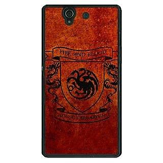 1 Crazy Designer Game Of Thrones GOT House Targaryen  Back Cover Case For Sony Xperia Z C460151