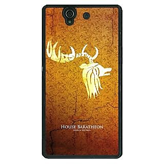 1 Crazy Designer Game Of Thrones GOT House Baratheon  Back Cover Case For Sony Xperia Z C460171