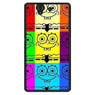 1 Crazy Designer Spongebob Back Cover Case For Sony Xperia Z C460462