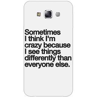 1 Crazy Designer Crazy Quote Back Cover Case For Samsung Galaxy A5 C451214