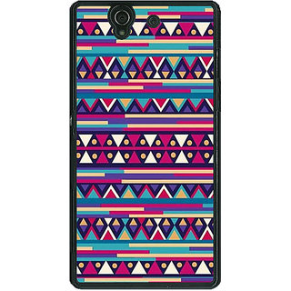 1 Crazy Designer Aztec Girly Tribal Back Cover Case For Sony Xperia Z C460052