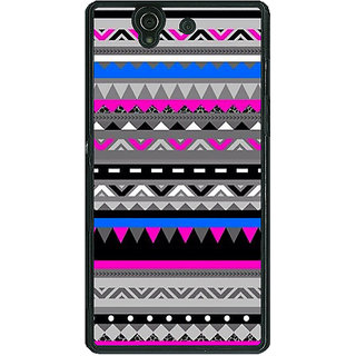 1 Crazy Designer Aztec Girly Tribal Back Cover Case For Sony Xperia Z C460059