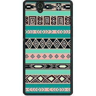 1 Crazy Designer Aztec Girly Tribal Back Cover Case For Sony Xperia Z C460065