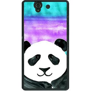 1 Crazy Designer Panda Pattern Back Cover Case For Sony Xperia Z C460206