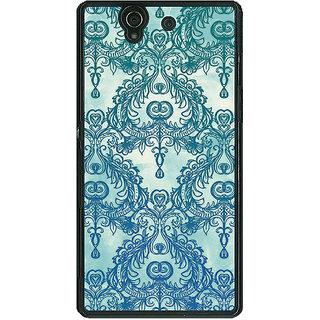 1 Crazy Designer Vintage Pattern Back Cover Case For Sony Xperia Z C460223