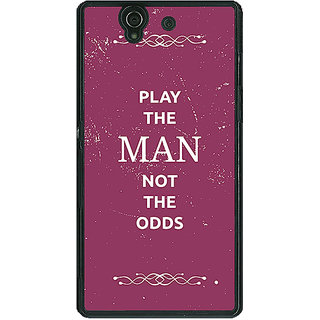 1 Crazy Designer SUITS Quotes Back Cover Case For Sony Xperia Z C460482