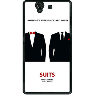 1 Crazy Designer SUITS Harvey Spector Mike Ross Back Cover Case For Sony Xperia Z C460490