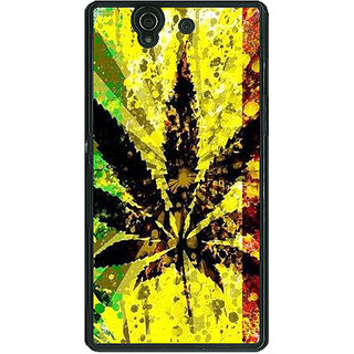 1 Crazy Designer Weed Marijuana Back Cover Case For Sony Xperia Z C460497