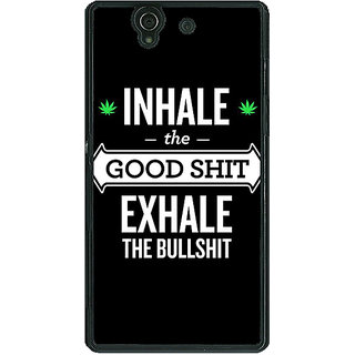 1 Crazy Designer Weed Quotes Back Cover Case For Sony Xperia Z C460500
