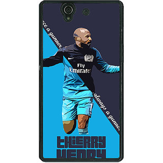 1 Crazy Designer Arsenal Therry Henry Back Cover Case For Sony Xperia Z C460505