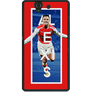 1 Crazy Designer Arsenal Alexis Sanchez Back Cover Case For Sony Xperia Z C460506