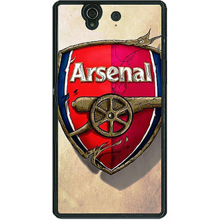 1 Crazy Designer Arsenal Back Cover Case For Sony Xperia Z C460515