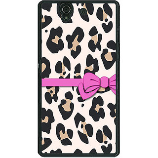 1 Crazy Designer Leopard Pattern Bow Back Cover Case For Sony Xperia Z C460802